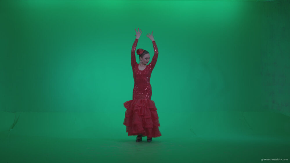 vj video background Flamenco-Red-Dress-rd13-Green-Screen-Video-Footage_003