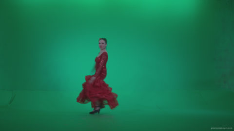 vj video background Flamenco-Red-Dress-rd2_003