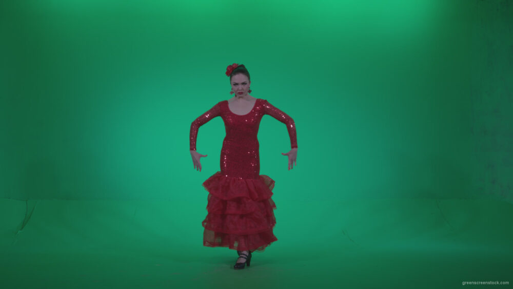 vj video background Flamenco-Red-Dress-rd3_003