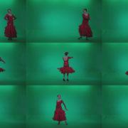 Flamenco-Red-Dress-rd5-Green-Screen-Video-Footage Green Screen Stock