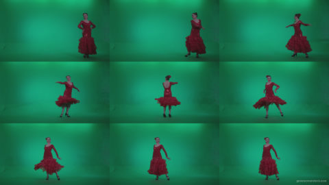 Flamenco-Red-Dress-rd5-Green-Screen-Video-Footage Green Screen Stock