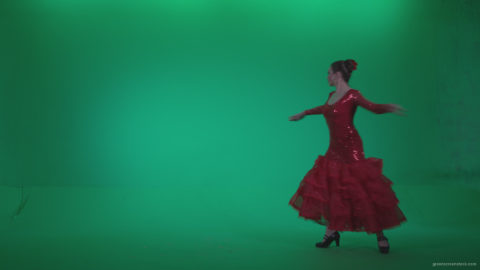 vj video background Flamenco-Red-Dress-rd5-Green-Screen-Video-Footage_003
