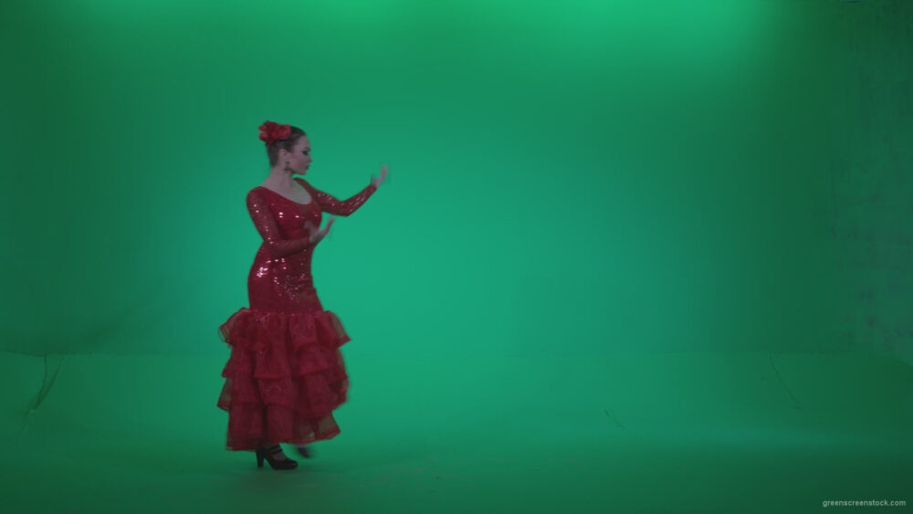 vj video background Flamenco-Red-Dress-rd6-Green-Screen-Video-Footage_003