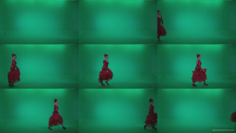 Flamenco-Red-Dress-rd8-Green-Screen-Video-Footage Green Screen Stock