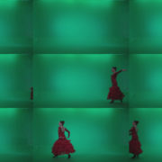 Flamenco-Red-Dress-rd9-Green-Screen-Video-Footage Green Screen Stock