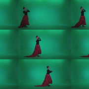 Flamenco-Red-and-Black-Dress-rb10-Green-Screen-Video-Footage Green Screen Stock