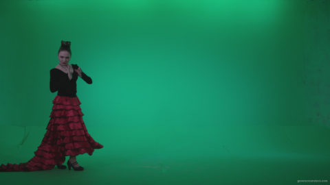 vj video background Flamenco-Red-and-Black-Dress-rb11-Green-Screen-Video-Footage_003