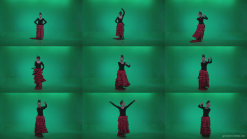Flamenco-Red-and-Black-Dress-rb12-Green-Screen-Video-Footage Green Screen Stock