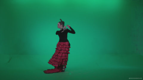 vj video background Flamenco-Red-and-Black-Dress-rb12-Green-Screen-Video-Footage_003
