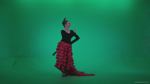 Flamenco-Red-and-Black-Dress-rb1_008 Green Screen Stock