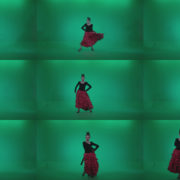 Flamenco-Red-and-Black-Dress-rb2 Green Screen Stock