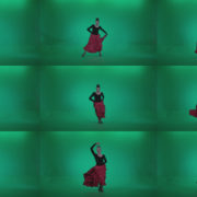 Flamenco-Red-and-Black-Dress-rb4 Green Screen Stock