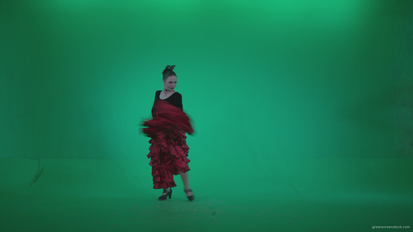 vj video background Flamenco-Red-and-Black-Dress-rb5-Green-Screen-Video-Footage_003