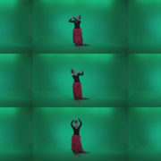 Flamenco-Red-and-Black-Dress-rb8-Green-Screen-Video-Footage Green Screen Stock
