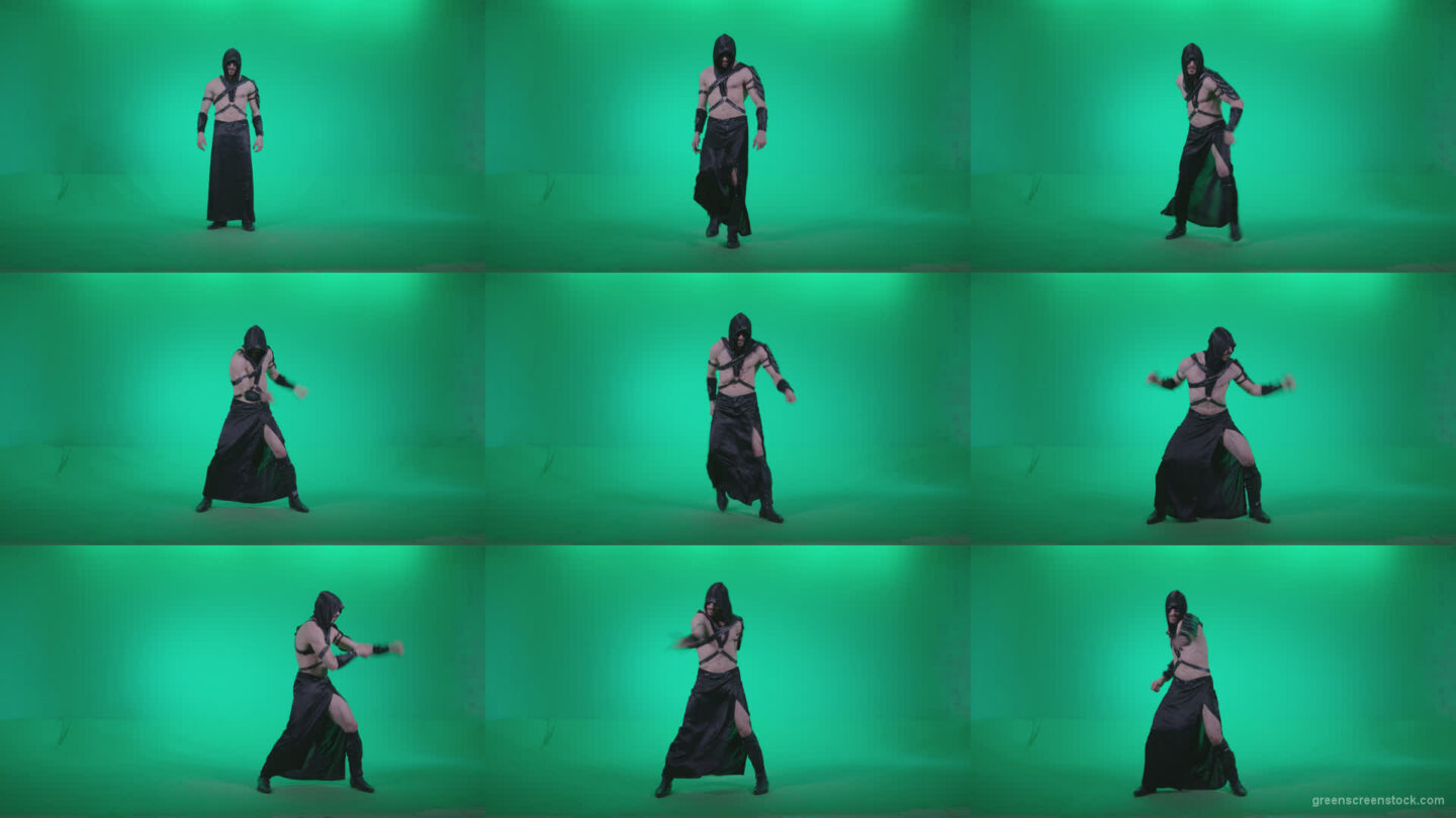 Go-go-Dancer-Assassin-g1 Green Screen Stock