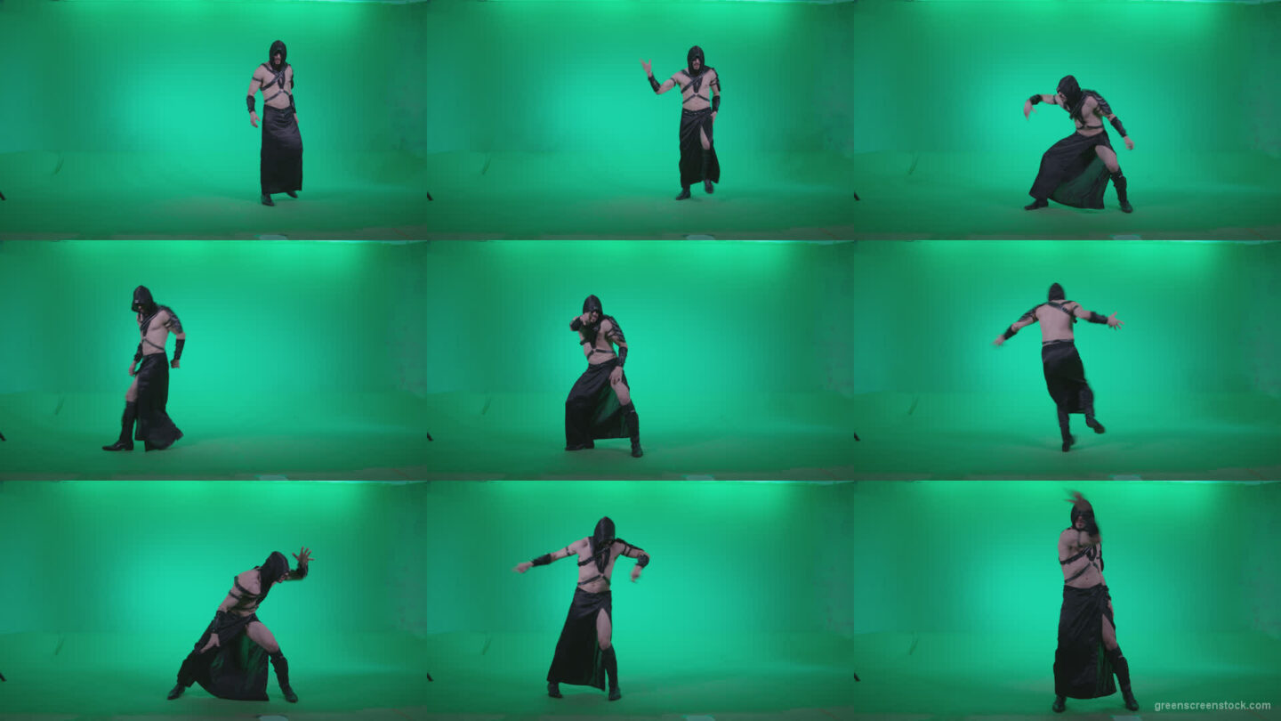 Go-go-Dancer-Assassin-g4 Green Screen Stock