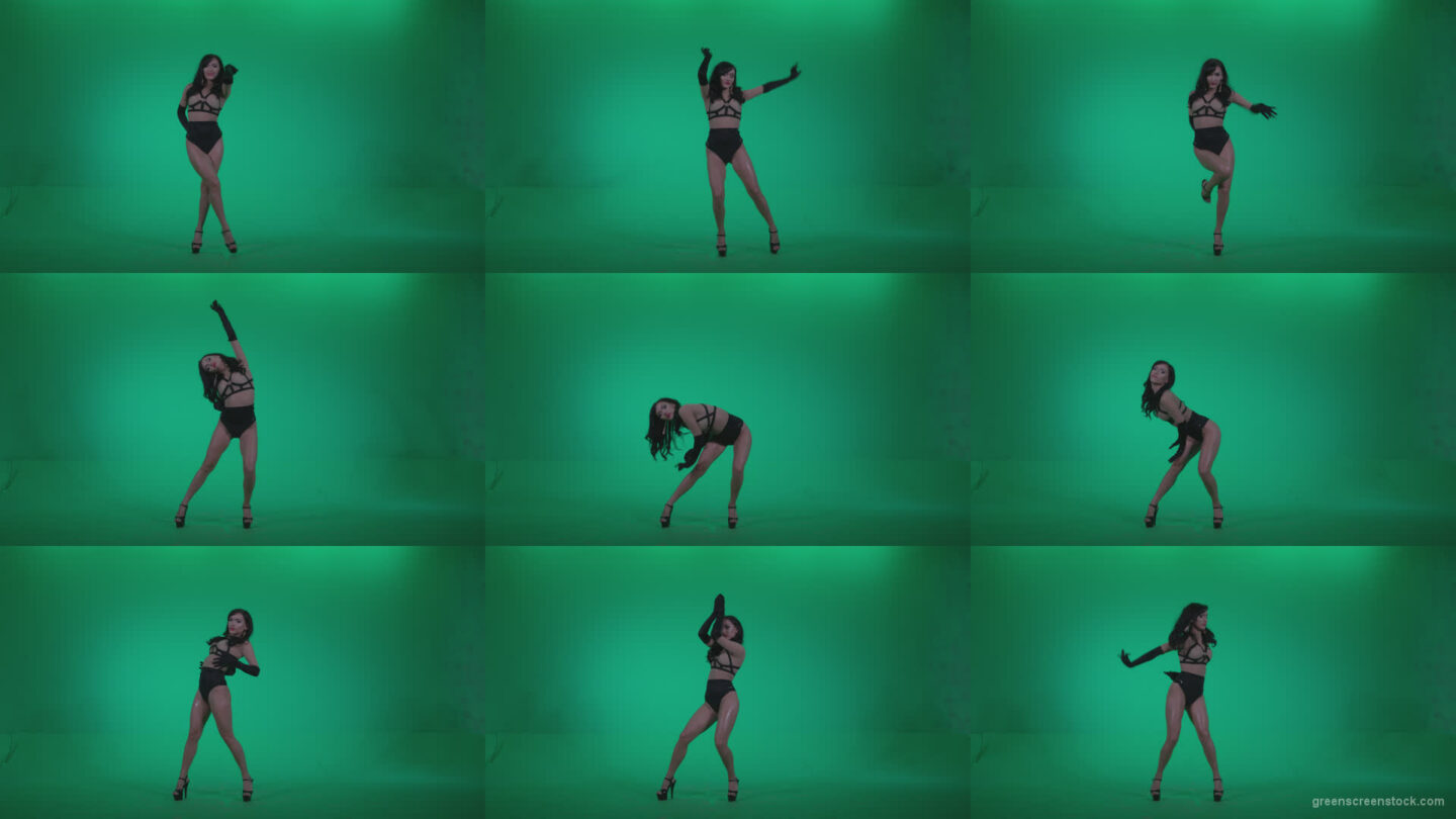 Go-go-Dancer-Black-Magic-y1-Green-Screen-Video-Footage Green Screen Stock