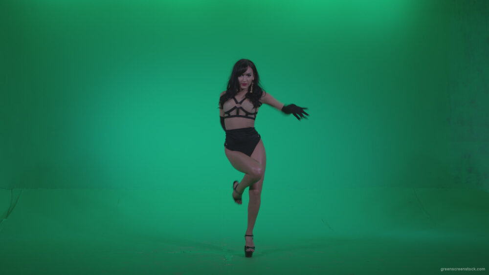 vj video background Go-go-Dancer-Black-Magic-y1-Green-Screen-Video-Footage_003