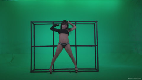 vj video background Go-go-Dancer-Black-Magic-y12-Green-Screen-Video-Footage_003