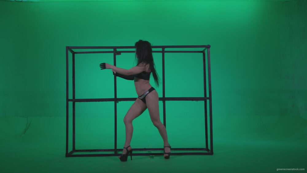 vj video background Go-go-Dancer-Black-Magic-y14-Green-Screen-Video-Footage_003