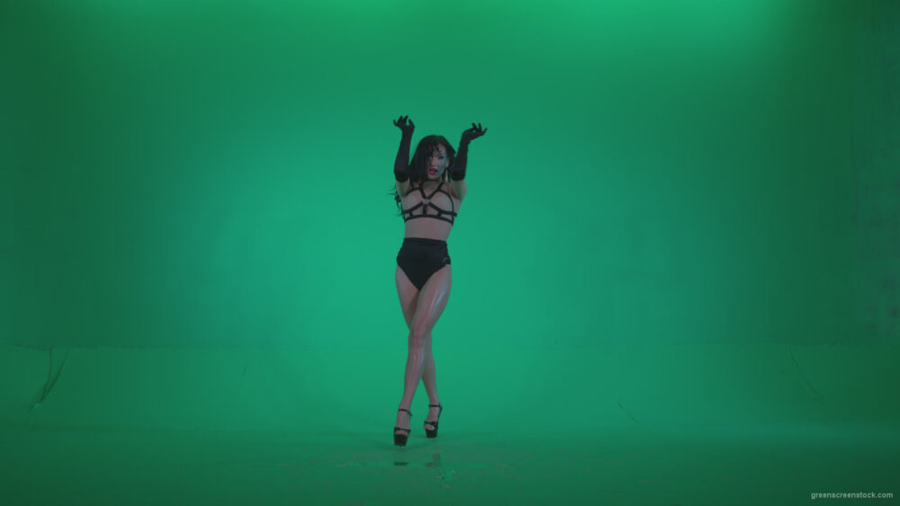 vj video background Go-go-Dancer-Black-Magic-y2-Green-Screen-Video-Footage_003