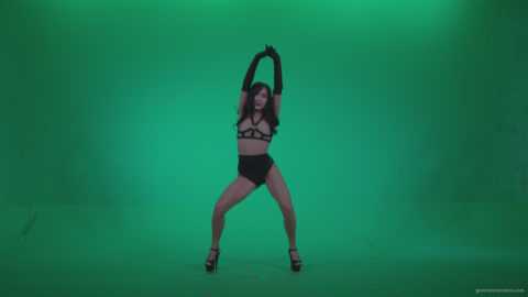 vj video background Go-go-Dancer-Black-Magic-y3-Green-Screen-Video-Footage_003