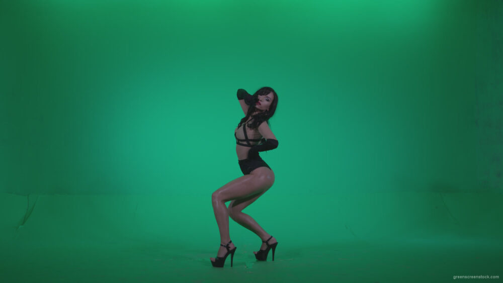 vj video background Go-go-Dancer-Black-Magic-y4-Green-Screen-Video-Footage_003