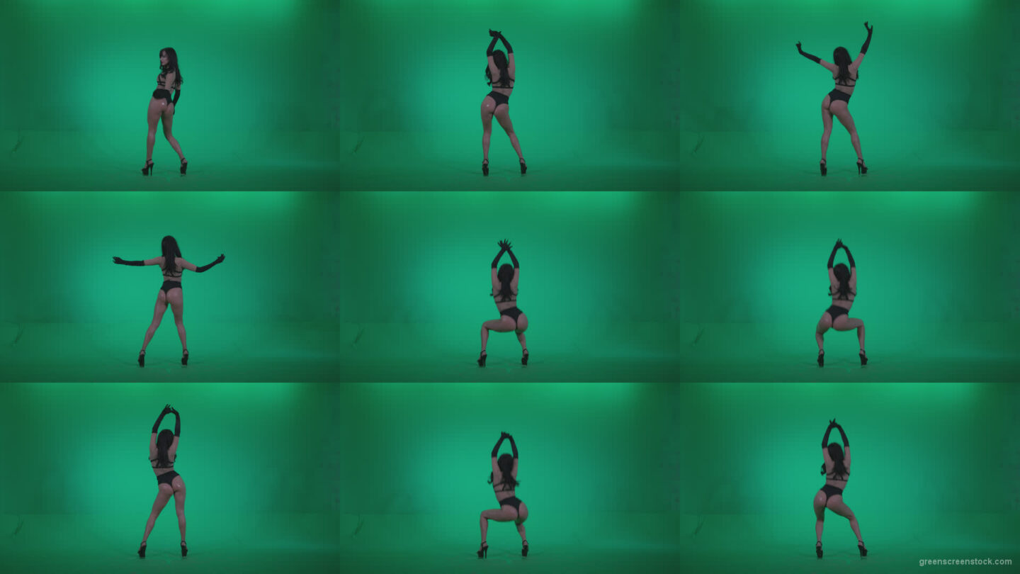 Go-go-Dancer-Black-Magic-y5-Green-Screen-Video-Footage Green Screen Stock