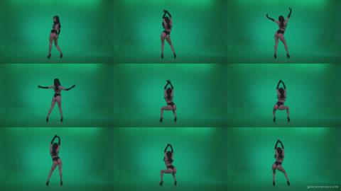 Go-go-Dancer-Black-Magic-y5-Green-Screen-Video-Footage Green Screen Stock