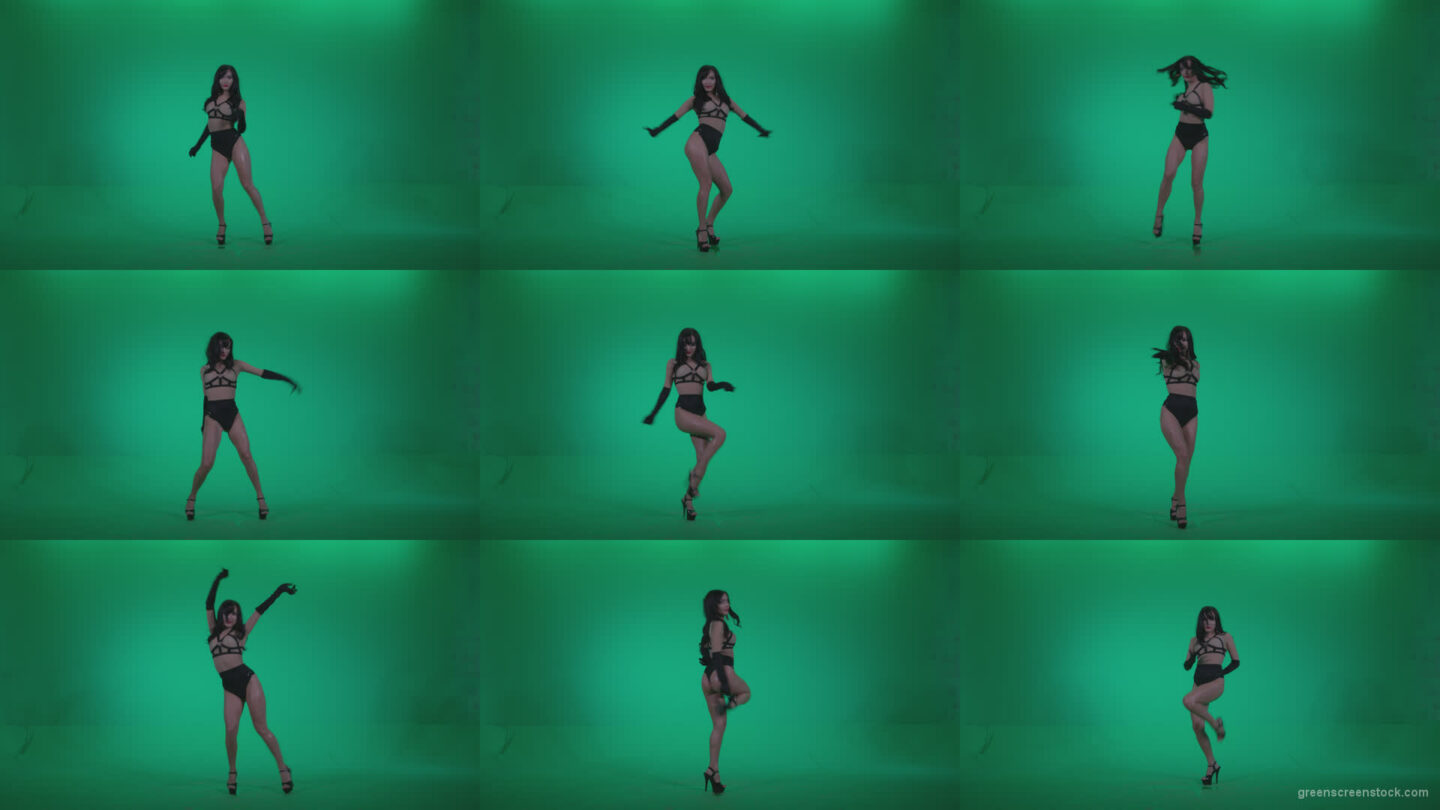 Go-go-Dancer-Black-Magic-y6-Green-Screen-Video-Footage Green Screen Stock