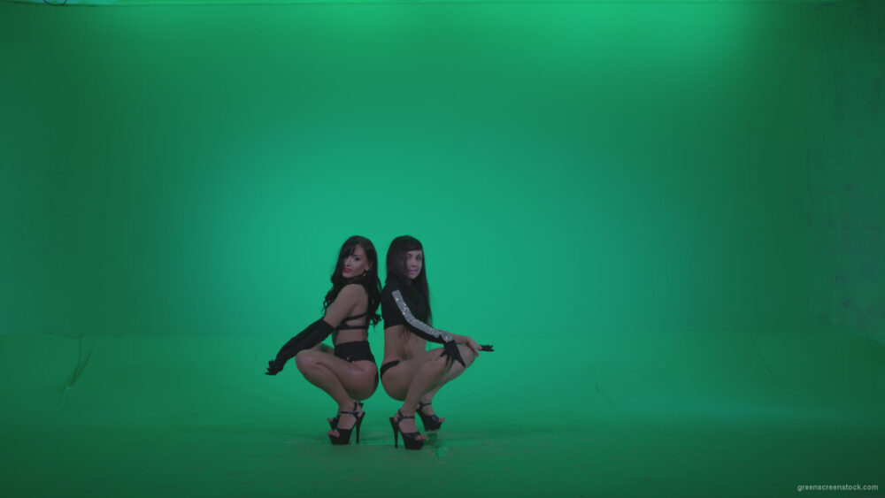vj video background Go-go-Dancer-Black-Magic-y7-Green-Screen-Video-Footage_003
