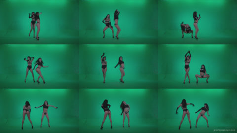 Go-go-Dancer-Black-Magic-y8-Green-Screen-Video-Footage Green Screen Stock
