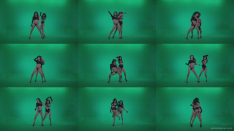 Go-go-Dancer-Black-Magic-y9-Green-Screen-Video-Footage Green Screen Stock