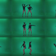 Go-go-Dancer-Black-Rabbit-u1-Green-Screen-Video-Footage Green Screen Stock