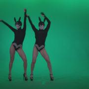 vj video background Go-go-Dancer-Black-Rabbit-u5-Green-Screen-Video-Footage_003