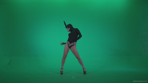 vj video background Go-go-Dancer-Black-Rabbit-u8-Green-Screen-Video-Footage_003