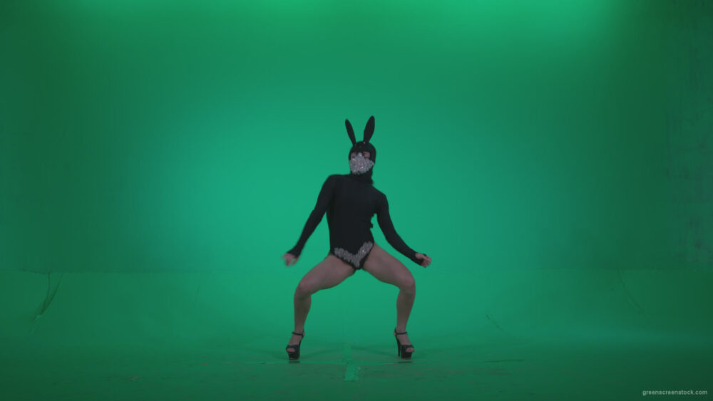 vj video background Go-go-Dancer-Black-Rabbit-u9-Green-Screen-Video-Footage_003