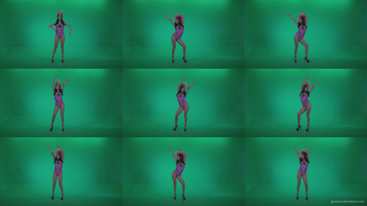 Go-go-Dancer-Carnaval-v9-Green-Screen-Video-Footage Green Screen Stock