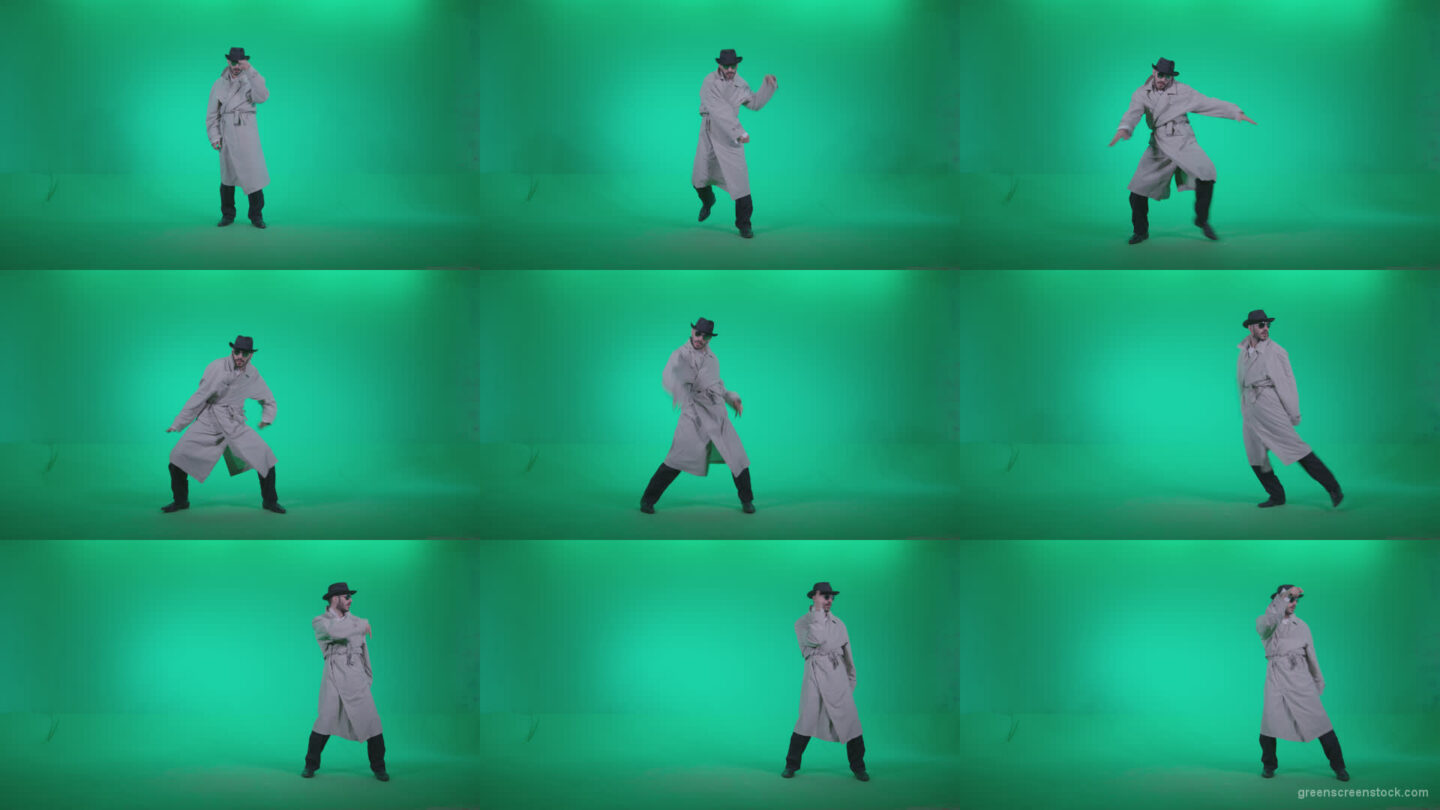 Go-go-Dancer-Detective-d2 Green Screen Stock