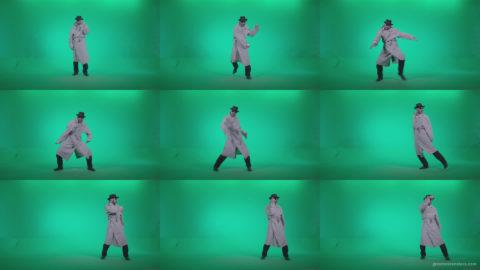 Go-go-Dancer-Detective-d2 Green Screen Stock