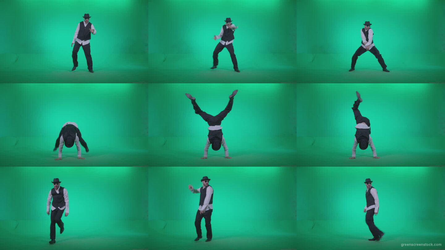 Go-go-Dancer-Detective-d4 Green Screen Stock