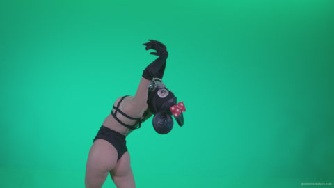 vj video background Go-go-Dancer-Latex-Mikki-x1-Green-Screen-Video-Footage_003