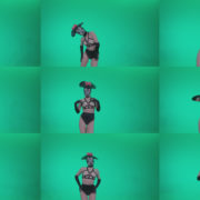 Go-go-Dancer-Latex-Mikki-x2-Green-Screen-Video-Footage Green Screen Stock