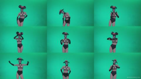Go-go-Dancer-Latex-Mikki-x2-Green-Screen-Video-Footage Green Screen Stock