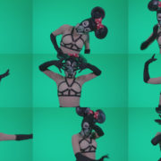 Go-go-Dancer-Latex-Mikki-x3-Green-Screen-Video-Footage Green Screen Stock