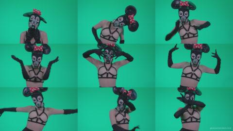Go-go-Dancer-Latex-Mikki-x3-Green-Screen-Video-Footage Green Screen Stock