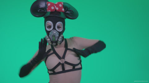 vj video background Go-go-Dancer-Latex-Mikki-x3-Green-Screen-Video-Footage_003