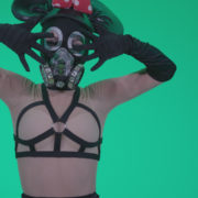 Go-go-Dancer-Latex-Mikki-x3-Green-Screen-Video-Footage_005 Green Screen Stock