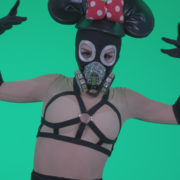Go-go-Dancer-Latex-Mikki-x3-Green-Screen-Video-Footage_006 Green Screen Stock