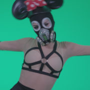 Go-go-Dancer-Latex-Mikki-x3-Green-Screen-Video-Footage_007 Green Screen Stock